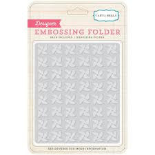 CARTA BELLA Embossing Folder - Pinwheels