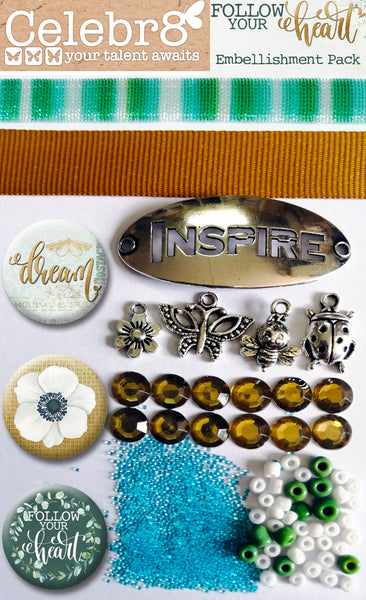 CELEBR8 Embellishment Pack - Follow Your Heart