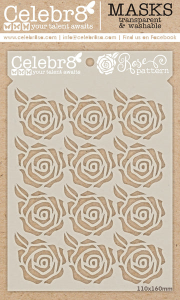 CELEBR8  MASK - Rose Pattern