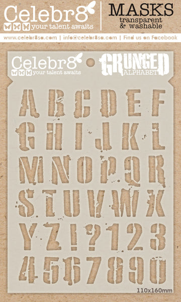 CELEBR8 MASK - Grunged Alphabet