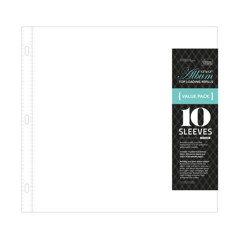 COUTURE CREATIONS Top Loading Sleeves for Album | 12x12