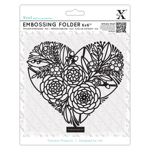 DOCRAFTS - Embossing Folder - 6x6 / Floral Heart