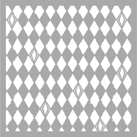 KAISERCRAFT 6x6 Designer Template - Distressed Diamonds