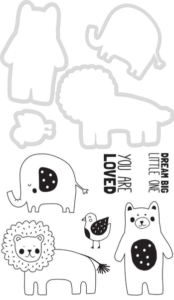 KAISERCRAFT DIES & STAMPS - Baby Animals
