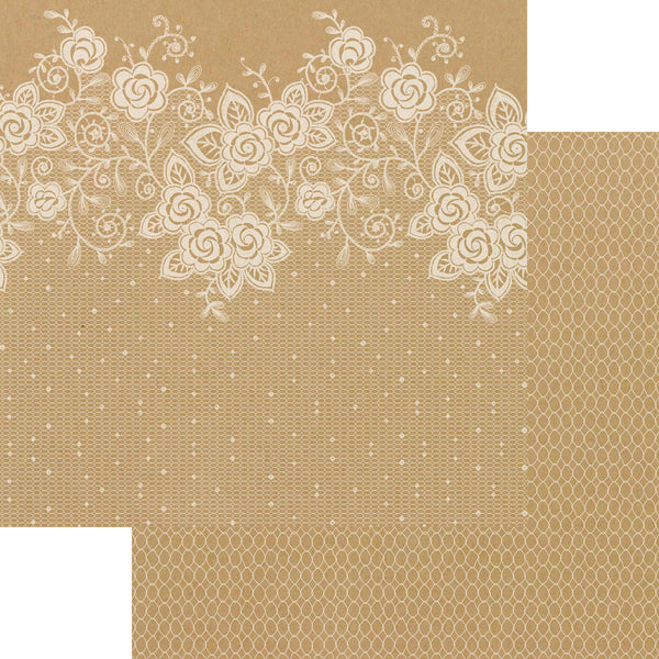 LADY PATTERN PAPER Kraft Essentials Paper Pack