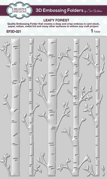 CREATIVE EXPRESSIONS 3D Embossing Folder | Leafy Forest