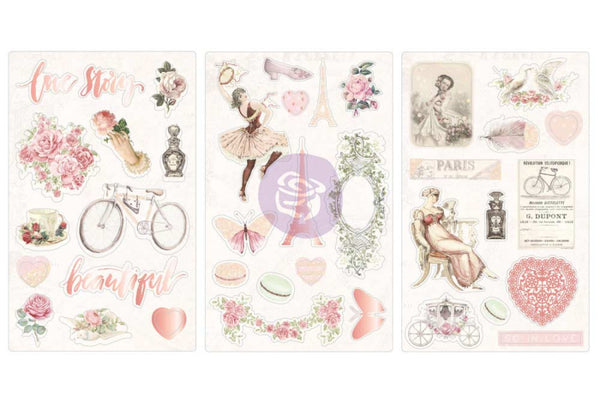 PRIMA - Love Story / Chipboards Stickers