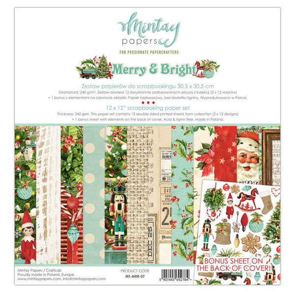 MINTAY Paper Pack | Merry & Bright 12 x 12