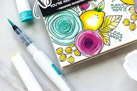 NUVO Aqua Flow Brush Tip Watercolour Pens / Various Sets