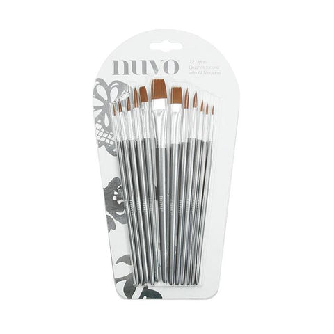 NUVO Paint Brushes / 12 Pack