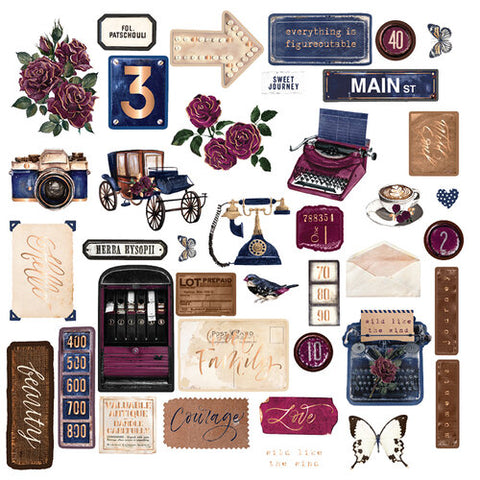 PRIMA - Darcelle - Chipboard Stickers