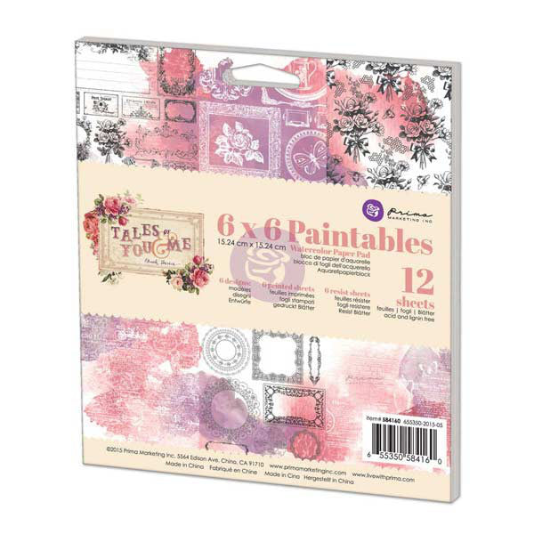 PRIMA 6X6 Paintable Pad - Tales Of You & Me