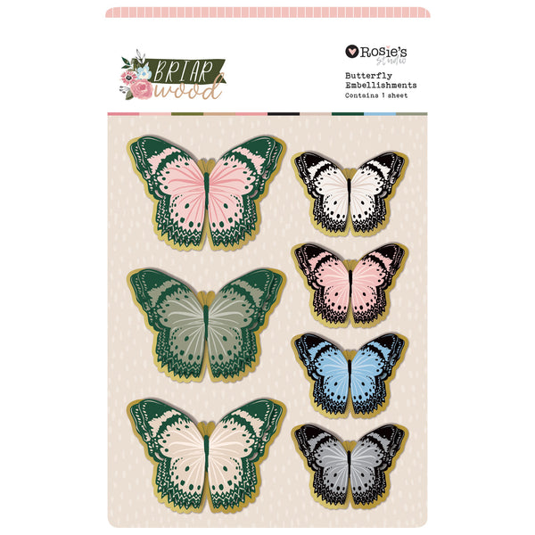ROSIE'S STUDIO Briarwood Butterfly Embellishments