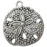 FABSCRAPS Metal Charm - Sand Dollar