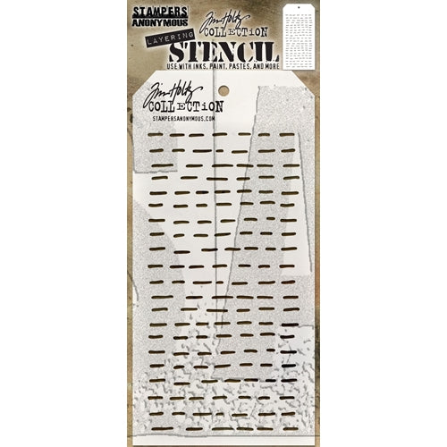 STAMPERS ANONYMOUS - Tim Holtz Layering Stencil - Dashes