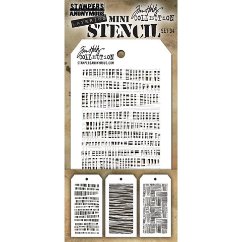 STAMPERS ANONYMOUS | Tim Holtz Layering Mini Stencil Set 34