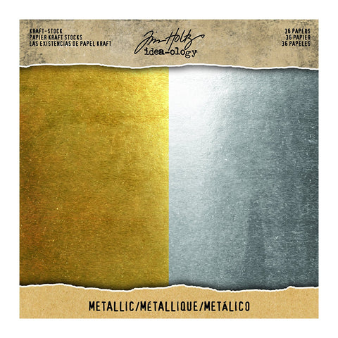 ADVANTUS Tim Holtz Idea-ology Craft Stock / Silver & Gold