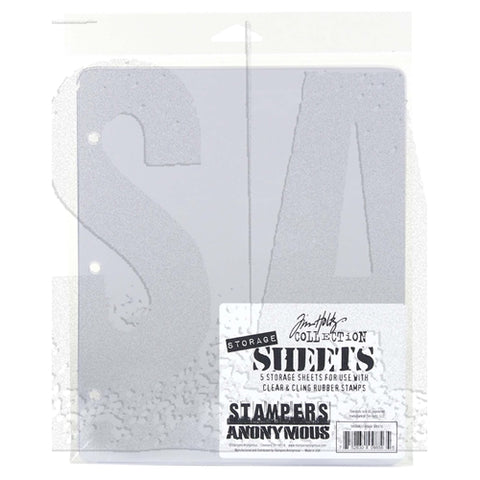 STAMPERS ANONYMOUS Tim Holtz Collection Storage Sheets