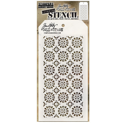 STAMPERS ANONYMOUS - Tim Holtz Layering Stencil - Rosette