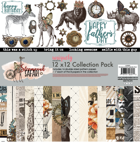 UNIQUELY CREATIVE Paper Pack | Steampunk Safari
