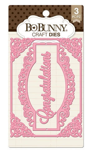BOBUNNY CRAFT DIES - Congratulations Card Dies