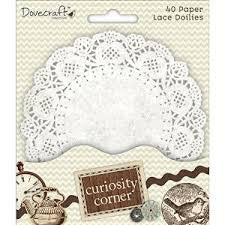 DOVECRAFT Lace Doilies - White