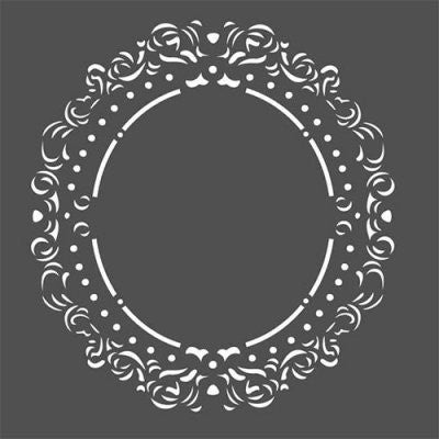 FABSCRAPS Stencil - Filligree Frame