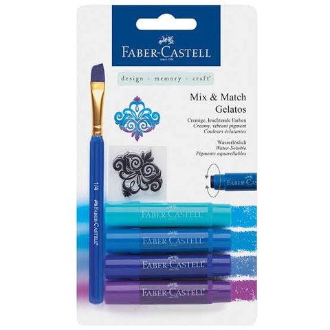 FABER-CASTELL Gelatos 4 Shades of Blue