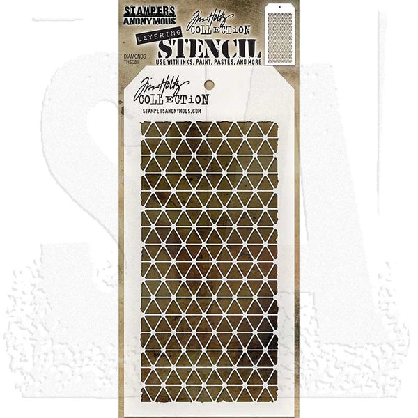 RANGER - Tim Holtz Layering Stencil - Diamonds