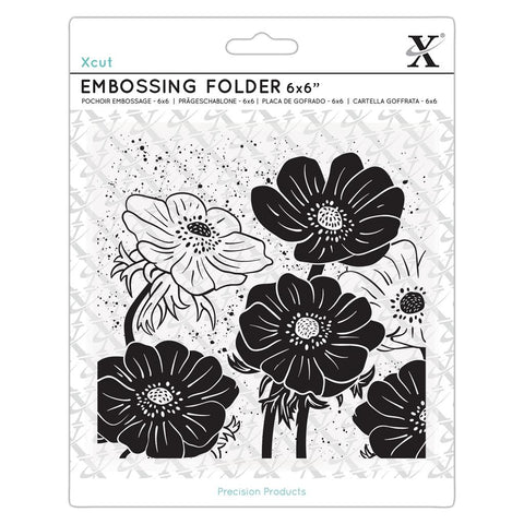 DOCRAFTS - Embossing Folder - 6x6 / Full Bloom Helleborus
