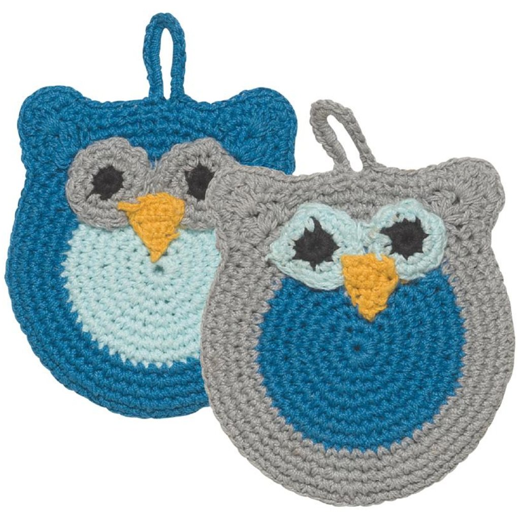 Tawashi Animal Scrubbers - Oliver Owl | Now Designs | Stitch Piece Loop | Shop In Store + Online | Fashion Home Gift Baby + Craft Supplies | Noosa Heads | Australia