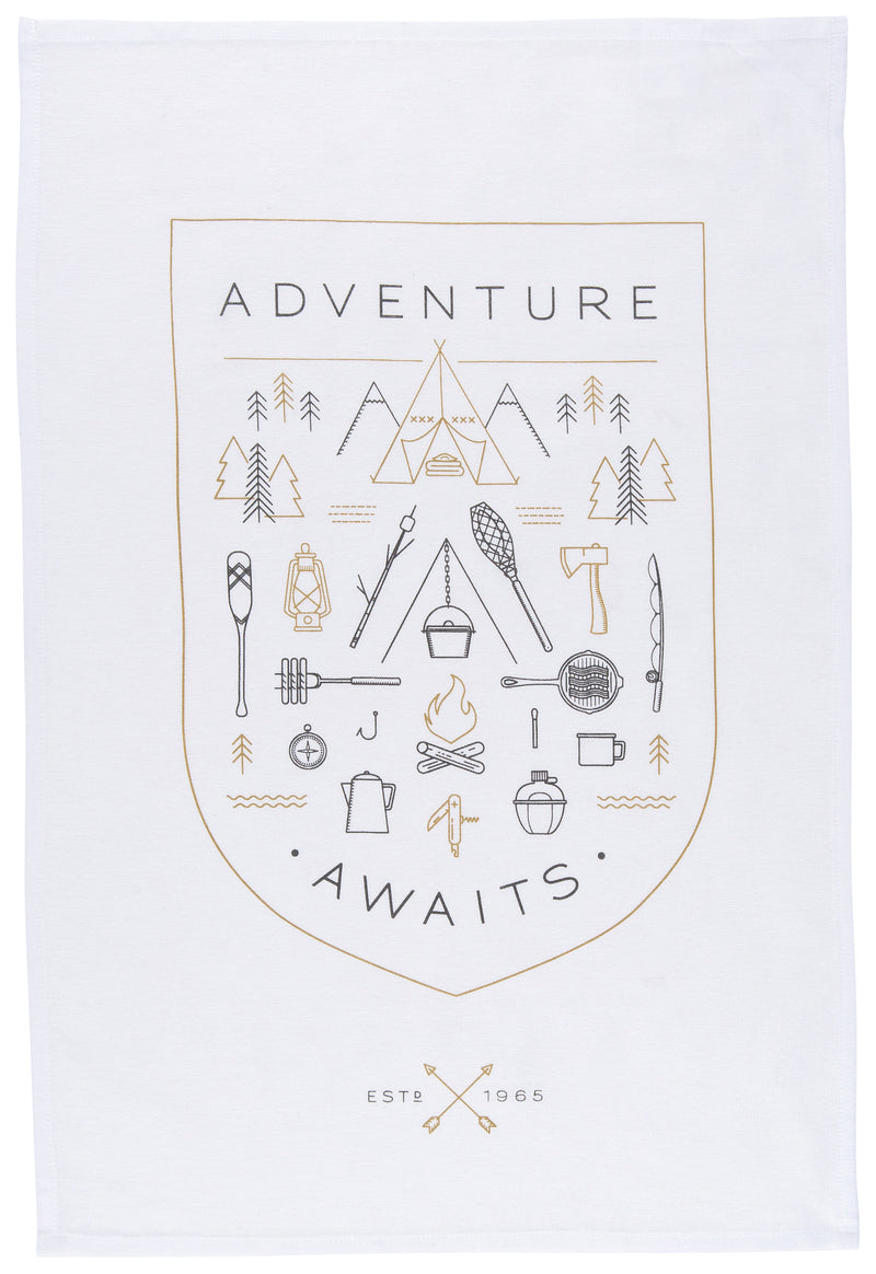 Tea Towel set of 2 - Adventure Awaits