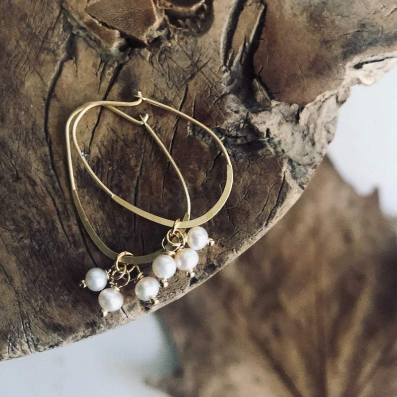 Baby Pearl Cluster Earrings | Paird Handmade Jewellery | Stitch Piece Loop | Shop in store + online | Women's Fashion, Accessories, Gifts, Home Wares, Baby Clothings, Baby Gifts, Modern Craft Supplies, Designer Yarns & Fabrics | Noosa Heads | Australia