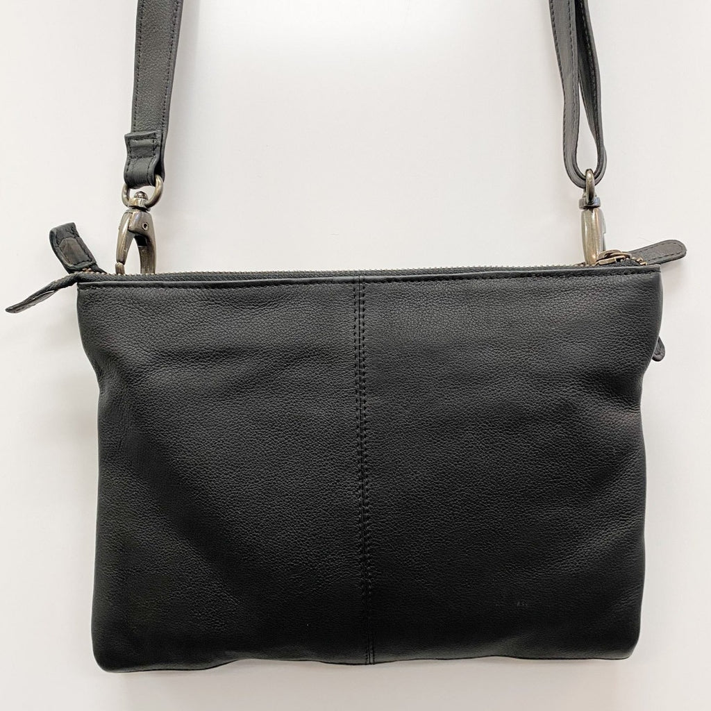 Ellie Bag in Black by Dusky Robin Leather | available at Stitch Piece Loop Noosa | Noosa Heads | Shop In Store + Online | A unique blend of Australian boutique fashion + accessories; gift & homewares; baby + kids clothing, toys + gifts; + designer sewing fabrics + hand knitting yarns |