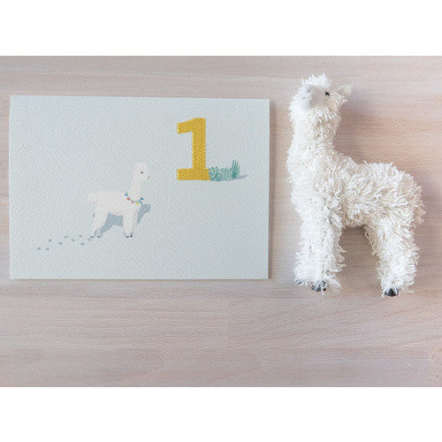 Embroidered_Card_Alpaca_One_Greeting_Card_Down_To_The_Woods_Stitch_Piece_Loop_Fashion_Home_Gift_Baby_Fabric_Craft_Noosa_Heads_Australia