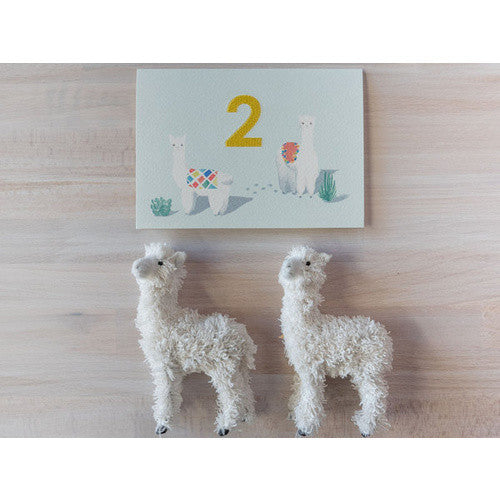 Embroidered_Card_Alpaca_Two_Greeting_Card_Down_To_The_Woods_Stitch_Piece_Loop_Fashion_Home_Gift_Baby_Fabric_Craft_Noosa_Heads_Australia