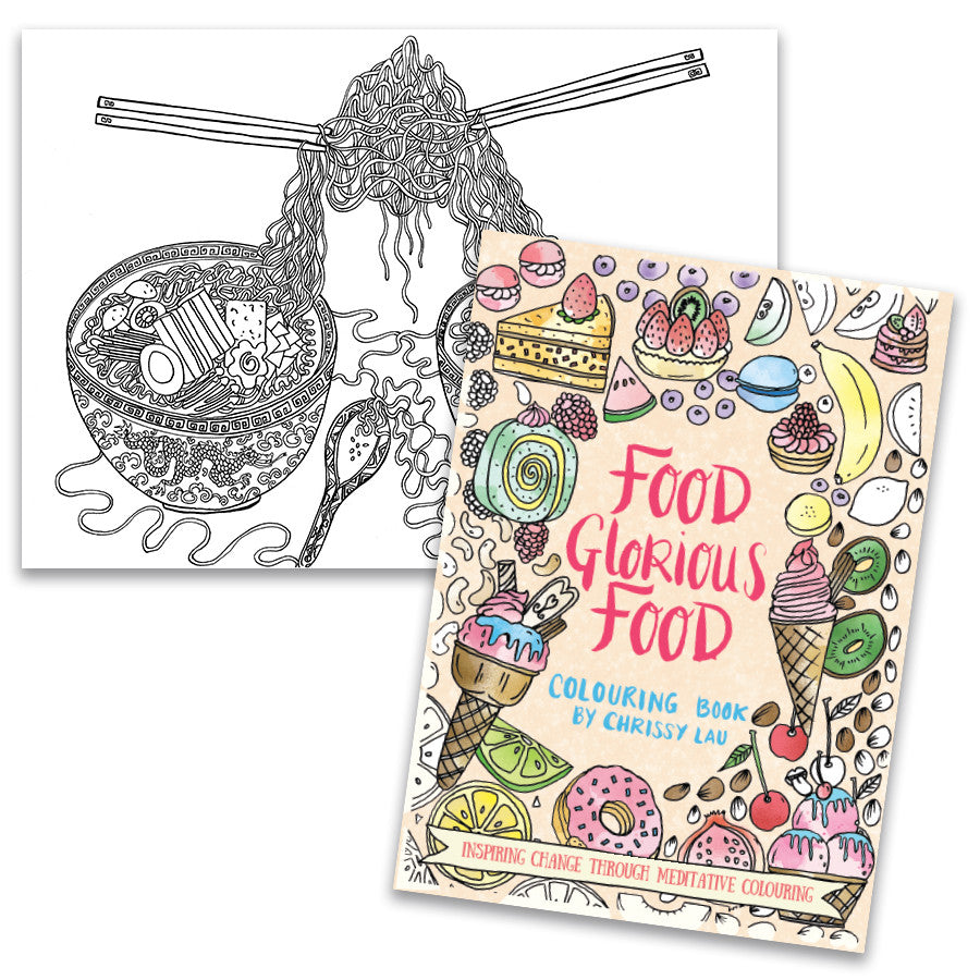 Colouring Book - Food Glorious Food