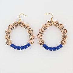 Frou Frou Earrings in Blue by Hi Middle Child Stitch Piece Loop Noosa