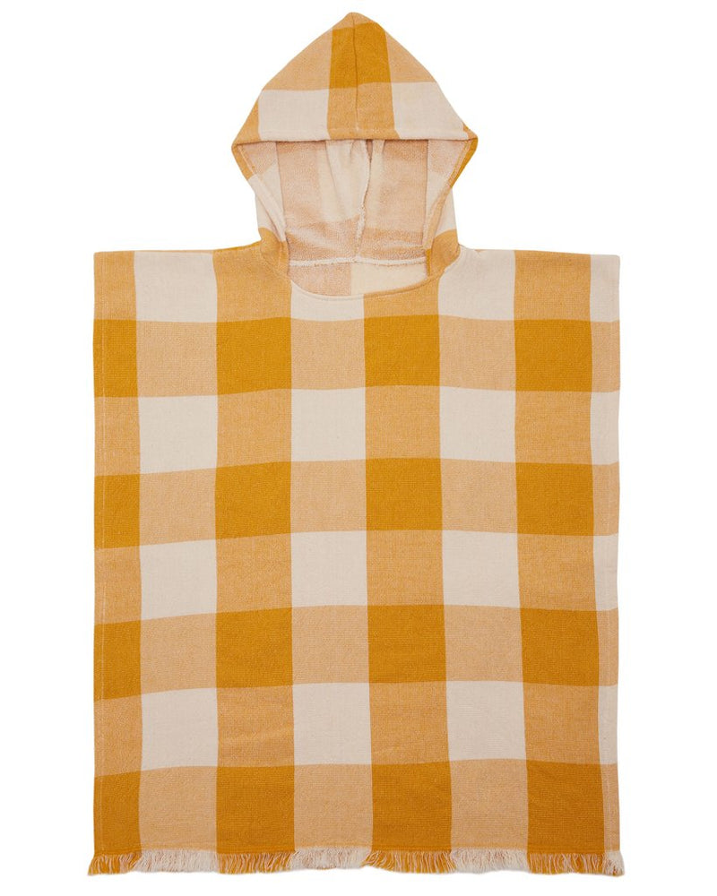 Tots Sunshine Poncho in Mustard by Mayde | Stitch Piece Loop | Australia