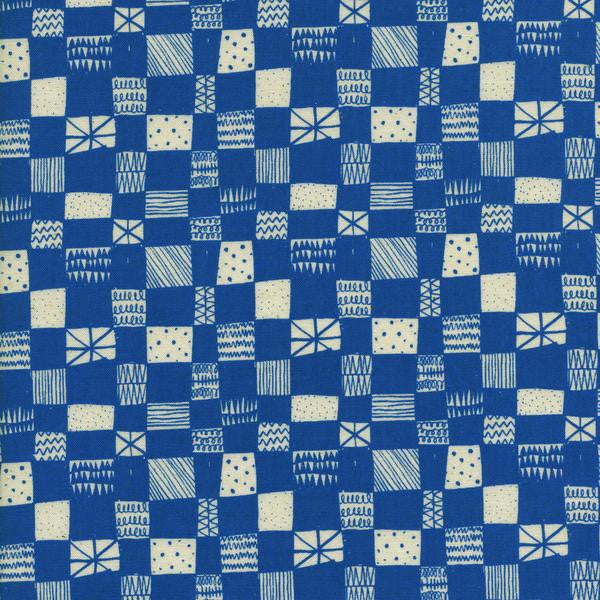 Print Shop Grid Blue