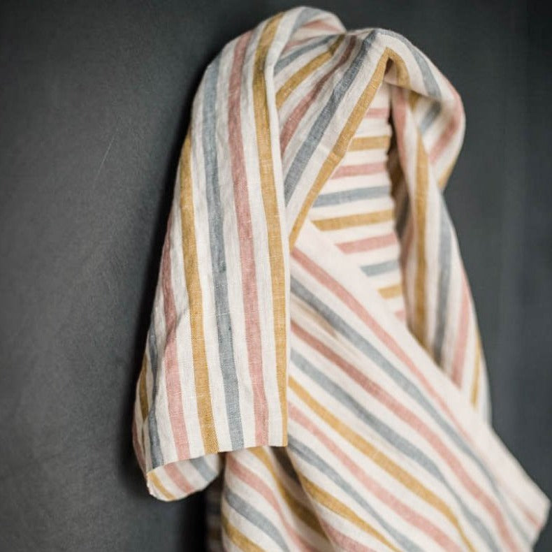 Suzy Stripe European Laundered Linen | Merchant & Mills designer sewing fabric | Stitch Piece Loop Australia