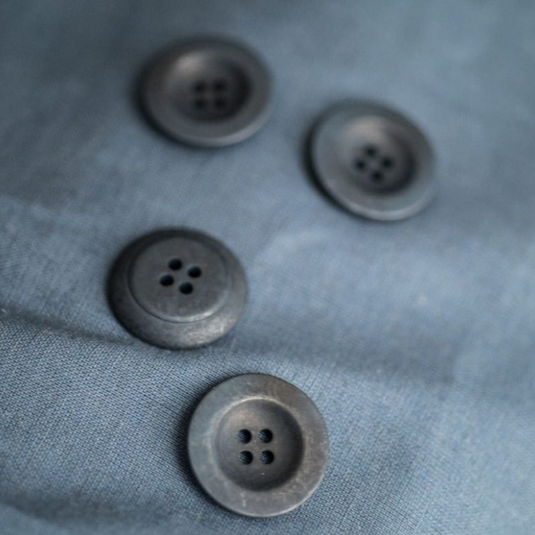 Corozo Button 22mm Navy | Merchant & Mills designer sewing fabric & goods | Stitch Piece Loop Australia