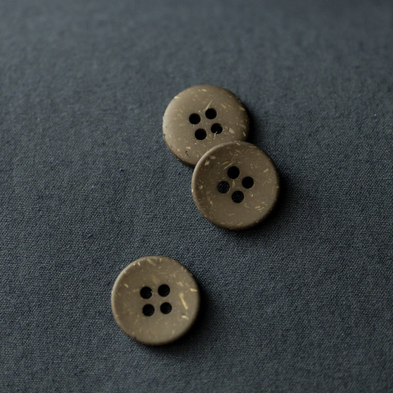Button 18mm Olive Speckles | Merchant & Mills designer sewing fabric & goods | Stitch Piece Loop Australia