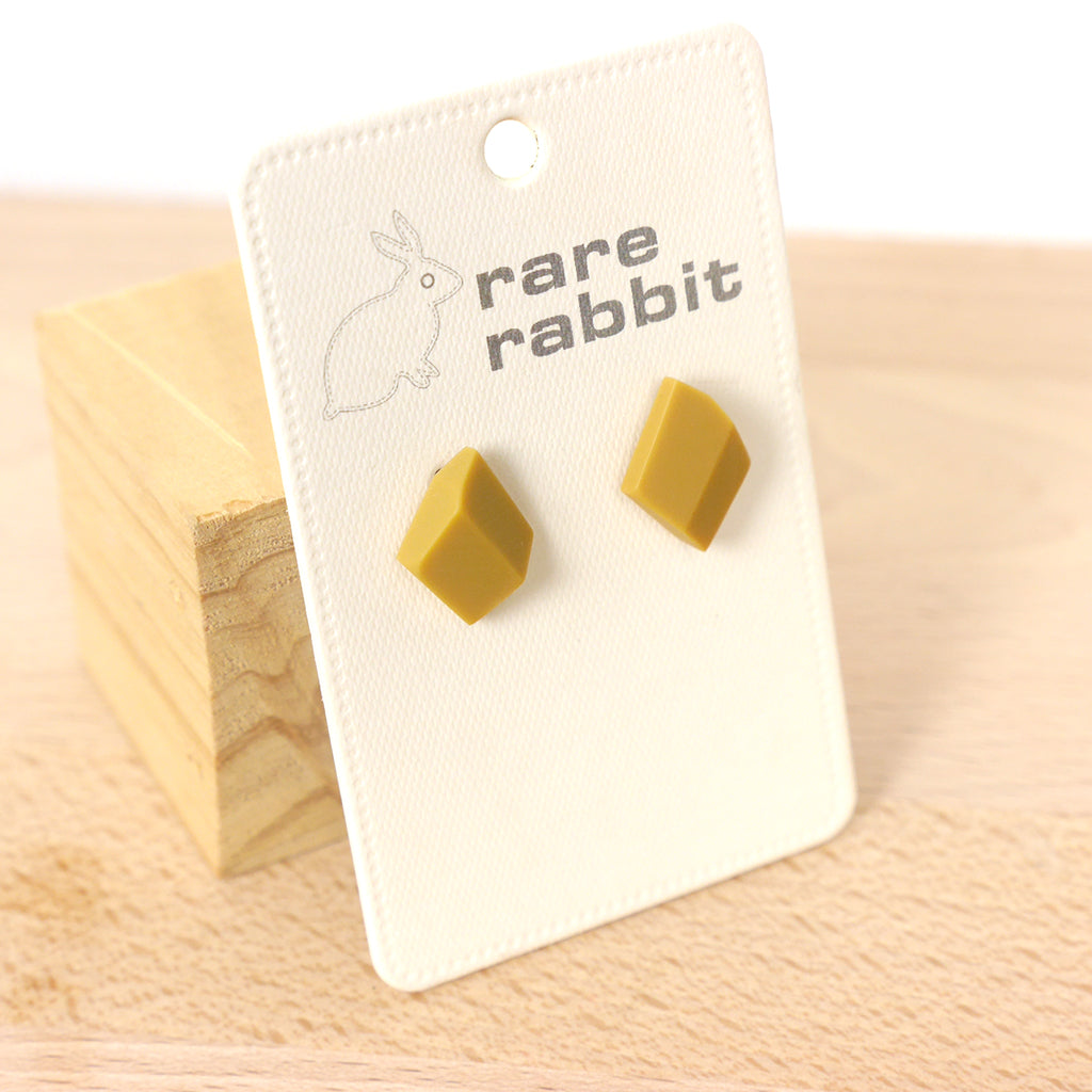Rare Rabbit Jewellery Southern Lights Stud Earrings in Butterscotch Stitch Piece Loop Noosa Heads