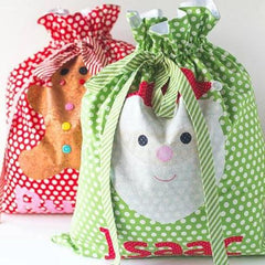 Santa Sacks Sewing + Applique Pattern