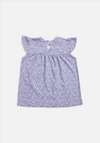 Frill Top in Lavender Grey Floral | Miann & Co | Baby & Children's Clothing & Gifts | Stitch Piece Loop | Noosa Heads | Shop a unique blend of independent boutique fashion & accessories; gifts & homewares; baby & children's clothing, gifts & toys; & designer hand knitting yarns, fabrics & modern craft supplies |