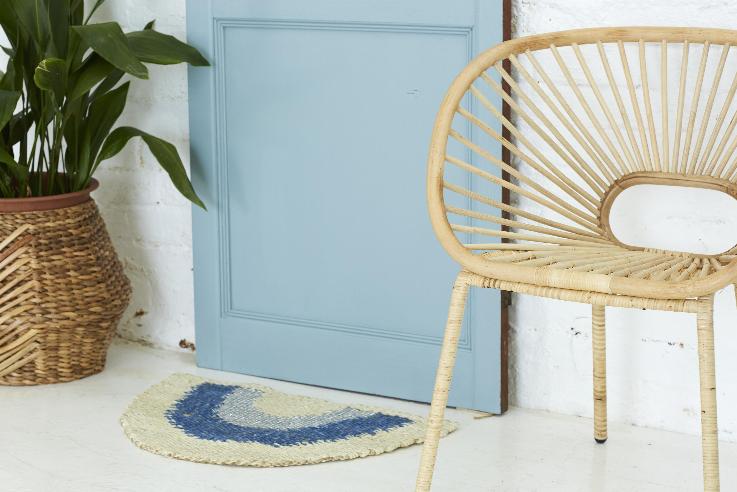 Aquarius Half Round Doormat by Langdon Ltd | Stitch Piece Loop | Noosa Heads | Shop In Store + Online | A unique blend of Australian boutique fashion + accessories; gift & homewares; baby + kids clothing, toys + gifts; + designer sewing fabrics + hand knitting yarns |