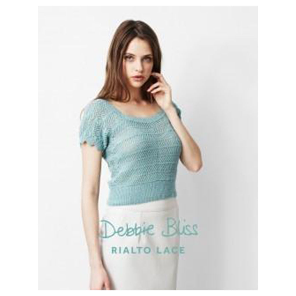 Debbie Bliss Sideways Knitted Sweater Stitch Piece Loop