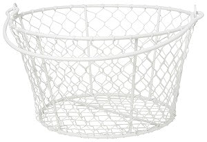 Homestead Basket - White | Now Designs | Stitch Piece Loop | Shop In Store + Online | Fashion Home Gift Baby + Craft Supplies | Noosa Heads | Sunshine Coast | Australia