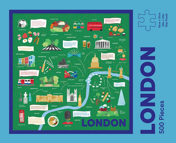 Put London Bridge back together again while brushing up on your city knowledge with the 500 piece London Map Puzzle | Stitch Piece Loop | Noosa Heads | Australia